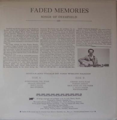 Faded Memories Songs Of Deerfield